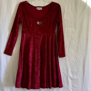 Red Velvet Dress, Small